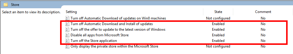 Disable Windows Store with GPO
