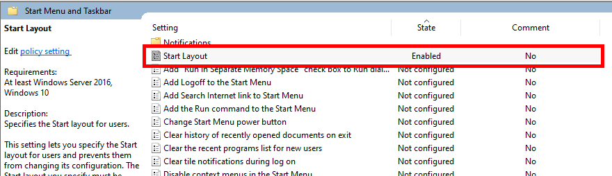 Disable Tiles from Start Menu
